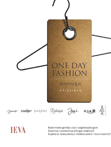 Renginių ciklas One Day Fashion Boutique